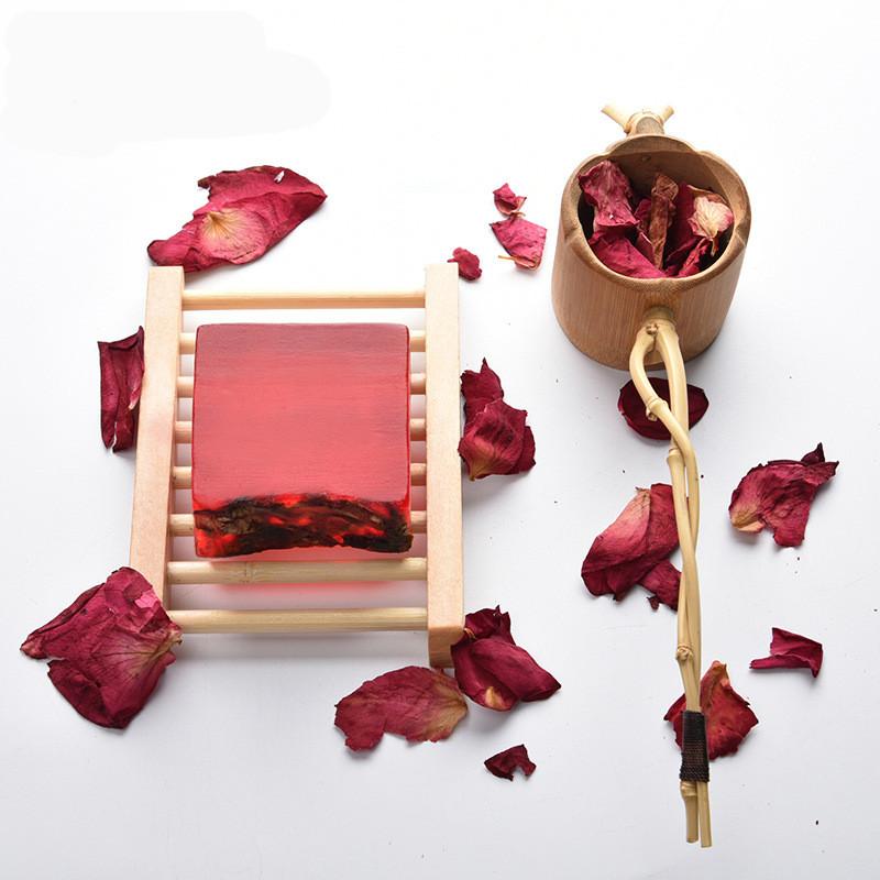 红玫瑰花瓣植物精油手工皂洁面 100g 元内精油皂肥皂 5 包邮 6 满