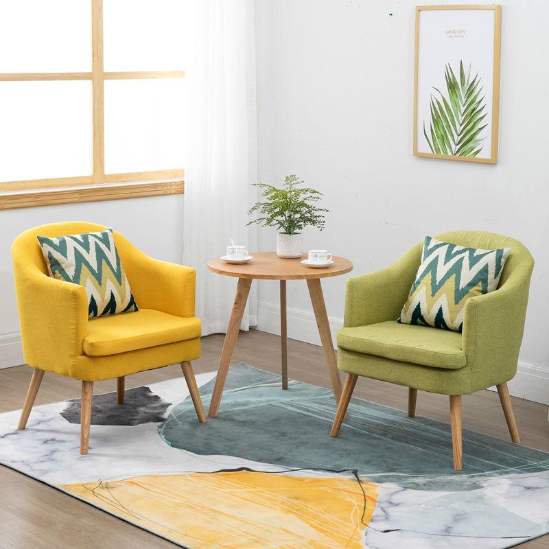 阳台小桌椅三件套现代简约休闲组合网红卧室北欧实木沙发一桌两椅