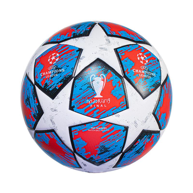 正品2021欧冠足球成人儿童5号4号小学生中考真皮训练比赛专用足球