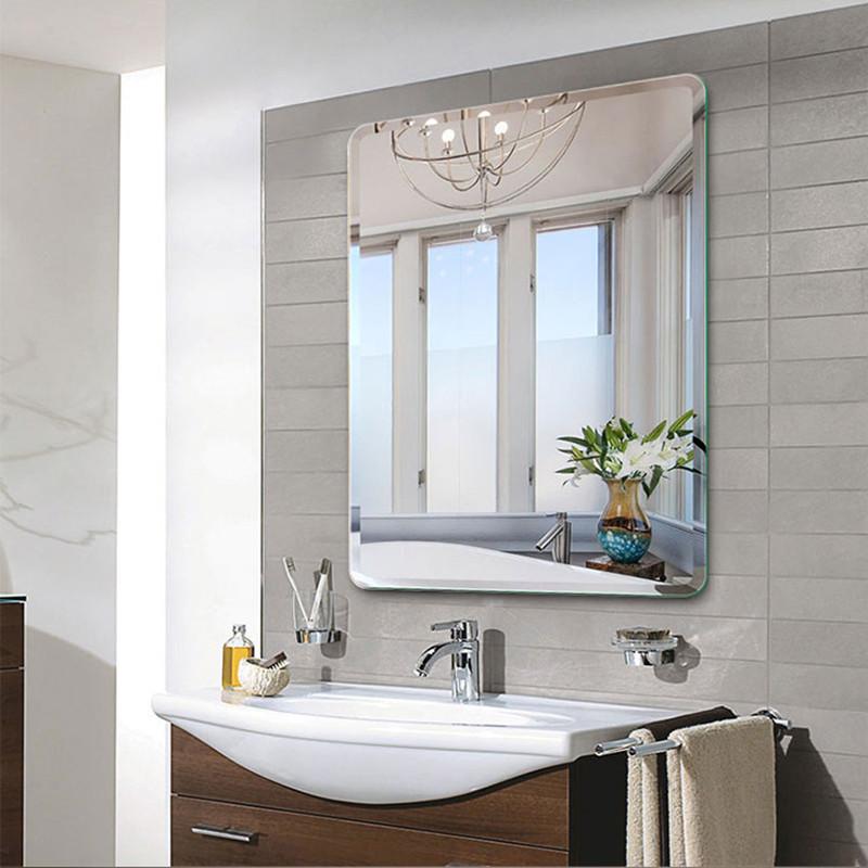 安全防爆卫生间镜子壁挂贴墙免打孔卫浴镜洗手间厕所浴室镜化妆镜
