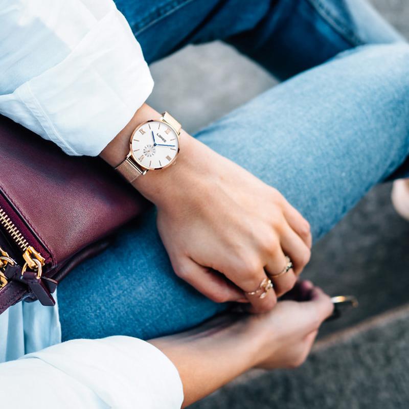 雷力欧手表女士情侣表2021新款学生潮流防水石英男表编织钢带腕表