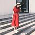 2018夏季新款女装小清新度假中长款裙子少女心仙女连衣裙红色