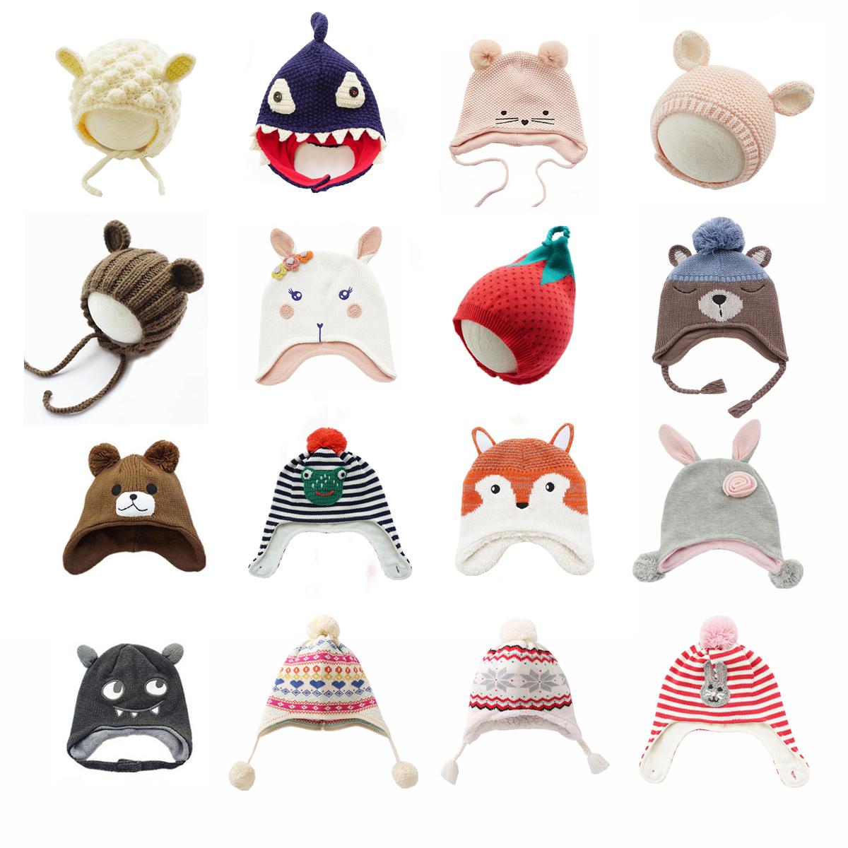岁 0  男女宝宝风雪护耳帽子婴儿保暖套头帽儿童拍照小孩秋冬季 5