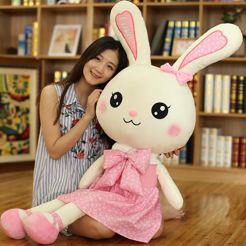 兔子毛绒玩具女孩布娃娃儿童女陪睡觉大号抱枕可爱白兔公仔玩偶