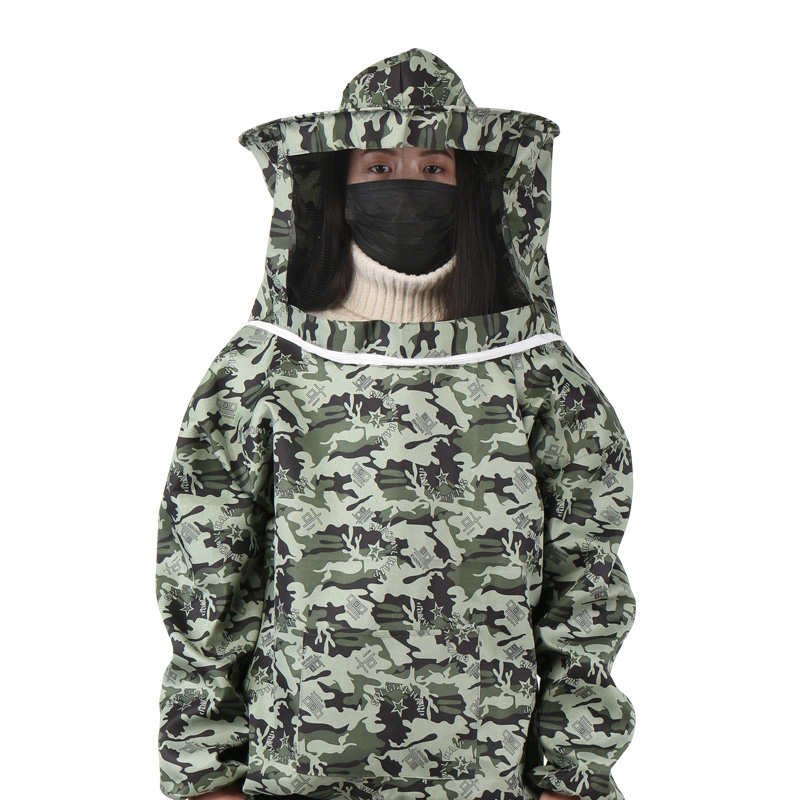 防蜂服全套透气型专用蜜蜂衣服防蜂帽养蜂工具加厚分体半身防蜂衣