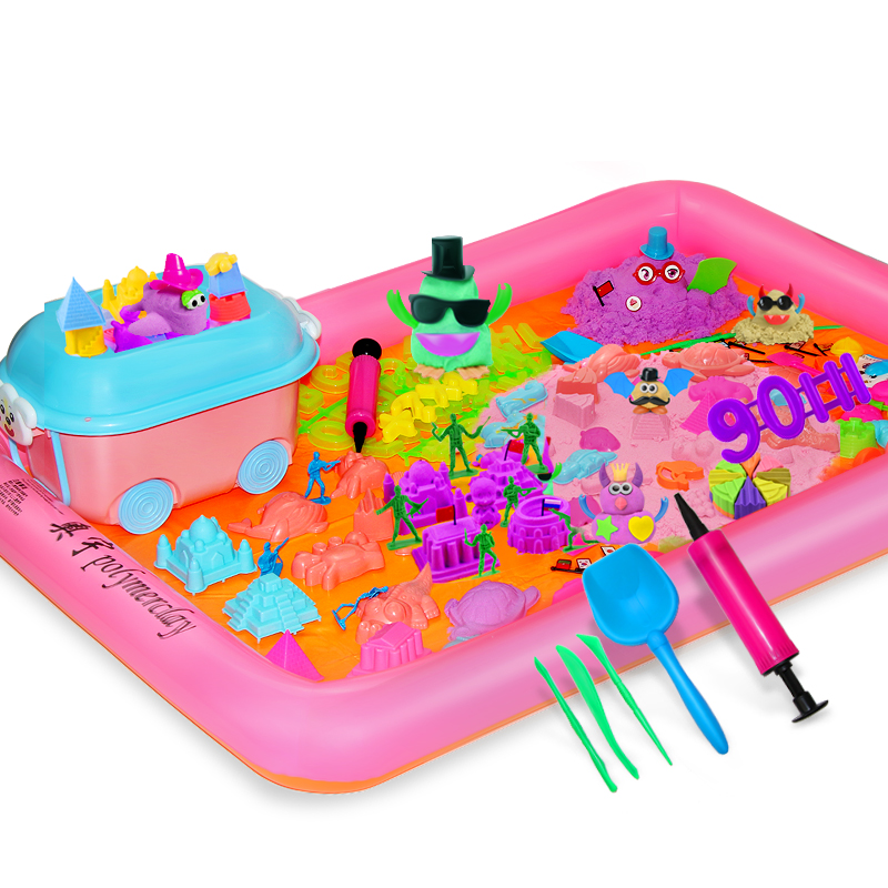 奥宇儿童太空玩具沙子套装橡皮泥魔力安全无毒彩泥男孩女孩10斤沙