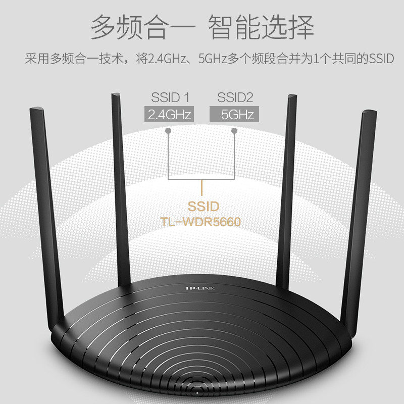 WDR5660 千兆双频无线速率百兆端口 5g 光纤 TPLINK 穿墙王 wifi 穿墙高速 家用 无线路由器 LINK TP 急速发货
