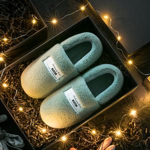 棉拖鞋女冬包跟居家用室内情侣家居保暖厚底毛绒月子鞋秋冬棉鞋男
