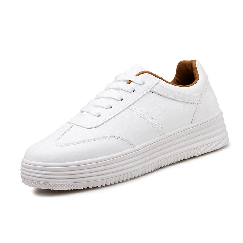 小白鞋女2017新款夏季透气镂空学生韩版百搭休闲春季系带厚底板鞋