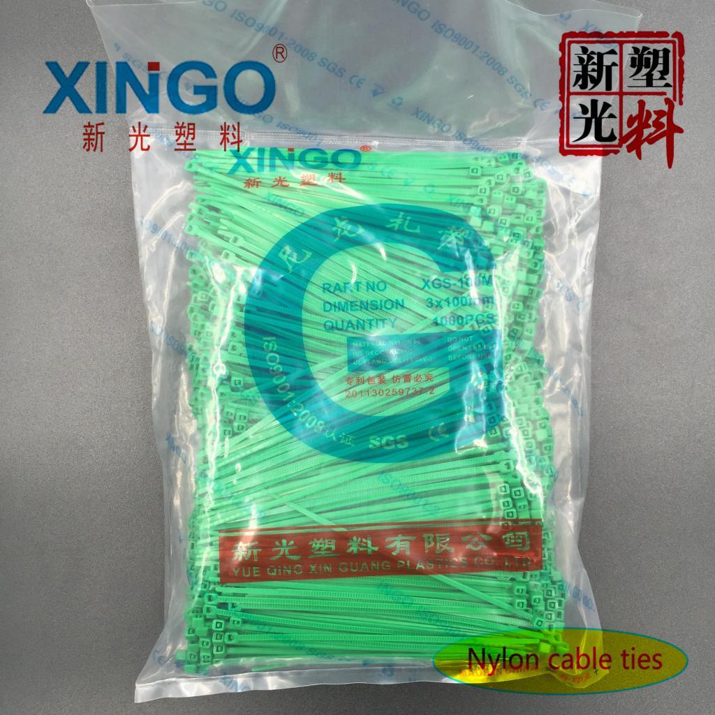 厂家直销新光尼龙扎带3x100 3*100黑色白色宽1.9mm长10cm足1000条