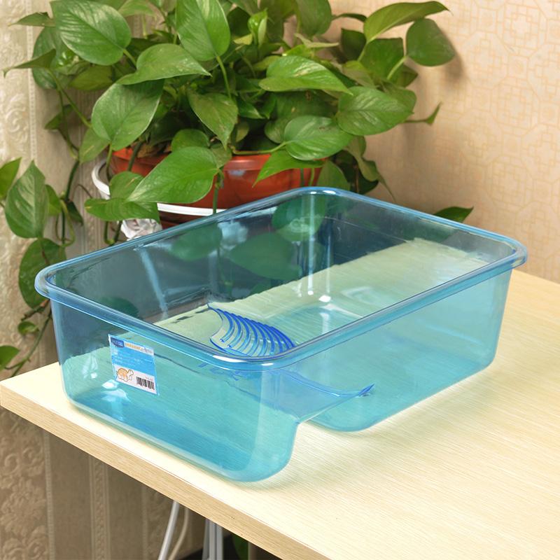 意牌乌龟缸带晒台小养龟盆龟缸塑料水陆缸家用养乌龟的专用缸龟箱