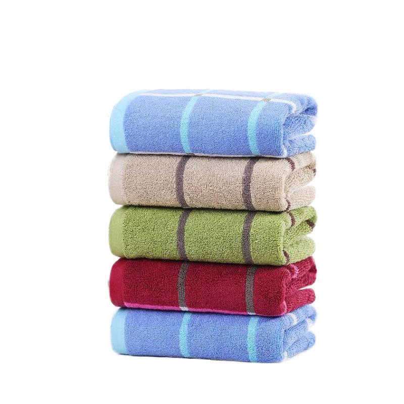 洁丽雅纯棉毛巾 5条组合装家用成人女柔软擦脸全棉吸水格子洗脸巾