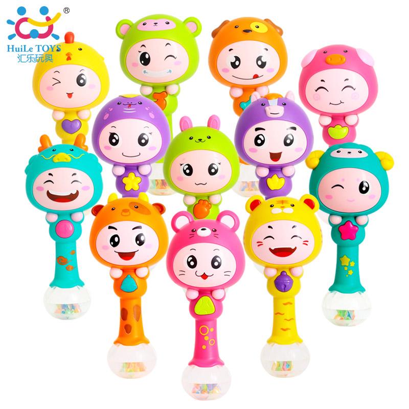 汇乐十二生肖节奏棒音乐摇铃婴幼儿沙锤新生儿婴儿玩具益智0-1岁
