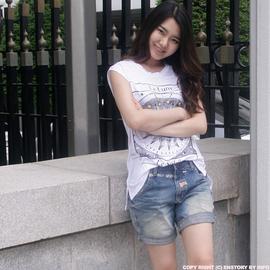 韩国Lolita女夏韩版宽松显瘦四分牛仔短裤可爱粉色小象图案刺绣潮