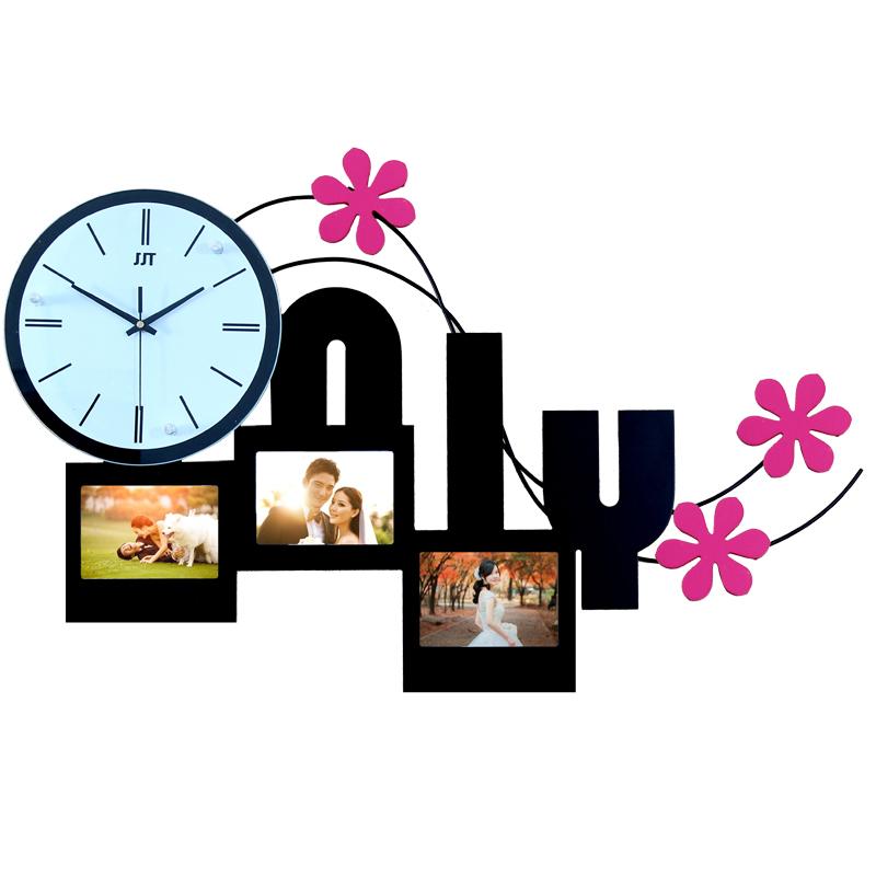 钟表挂钟客厅家用现代简约创意北欧式时钟卧室个姓装饰挂表大气