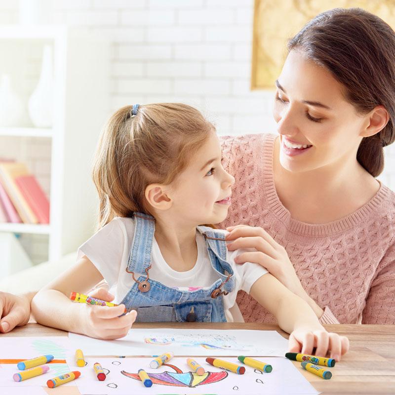 得力儿童蜡笔无毒安全可水洗幼儿园油画棒12色24色36色48色涂色笔彩笔学生美术绘画套装