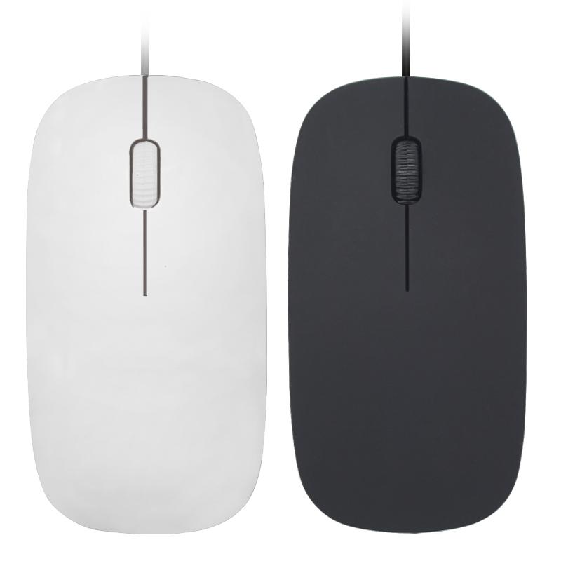 笔记本电脑鼠标 有线USB静音超薄苹果可爱女粉 家用办公台式电脑
