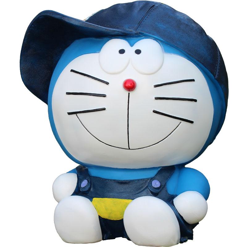 可爱防摔大号儿童储蓄罐储钱罐礼物摆件 创意超大号机器猫存钱罐