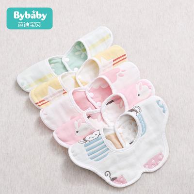 口水巾纯棉婴儿防水围嘴围兜360度可旋转新生宝宝防吐奶围脖春夏