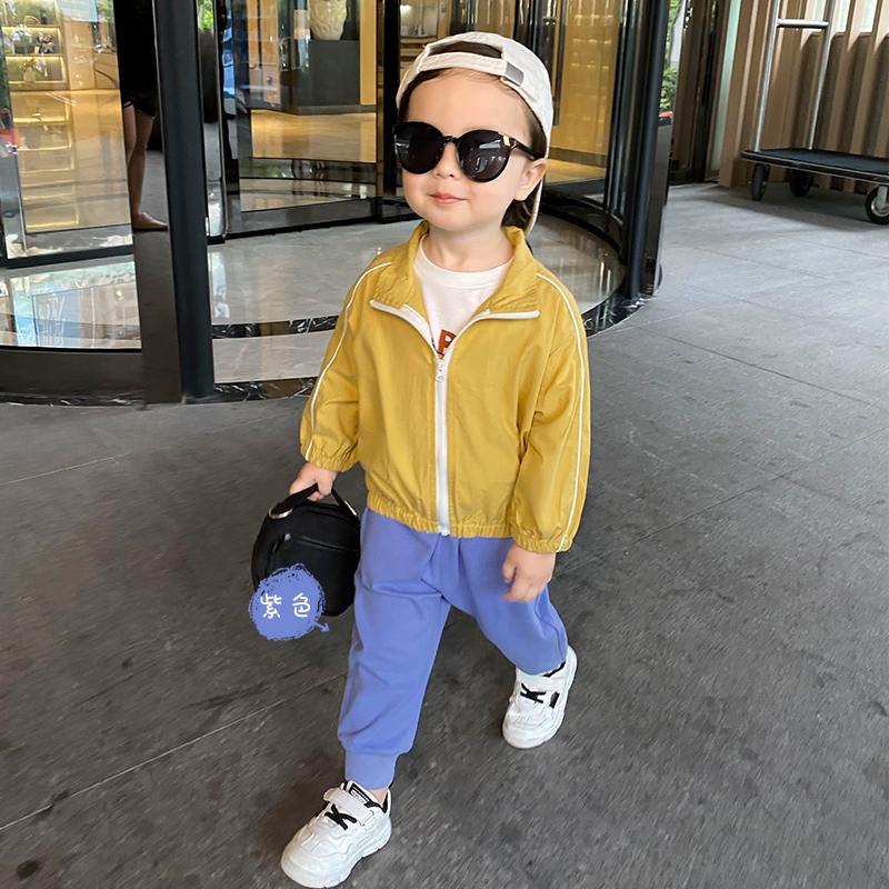 岁  1846 小童休闲外穿 男童运动长裤子秋装春秋款新款婴儿童装宝宝 1 3