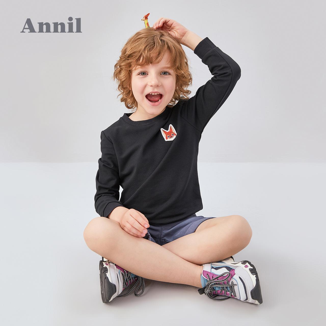 安奈儿童装男童卫衣2020秋冬新款迪士尼疯狂动物城T恤宽松套头衫 - 图2