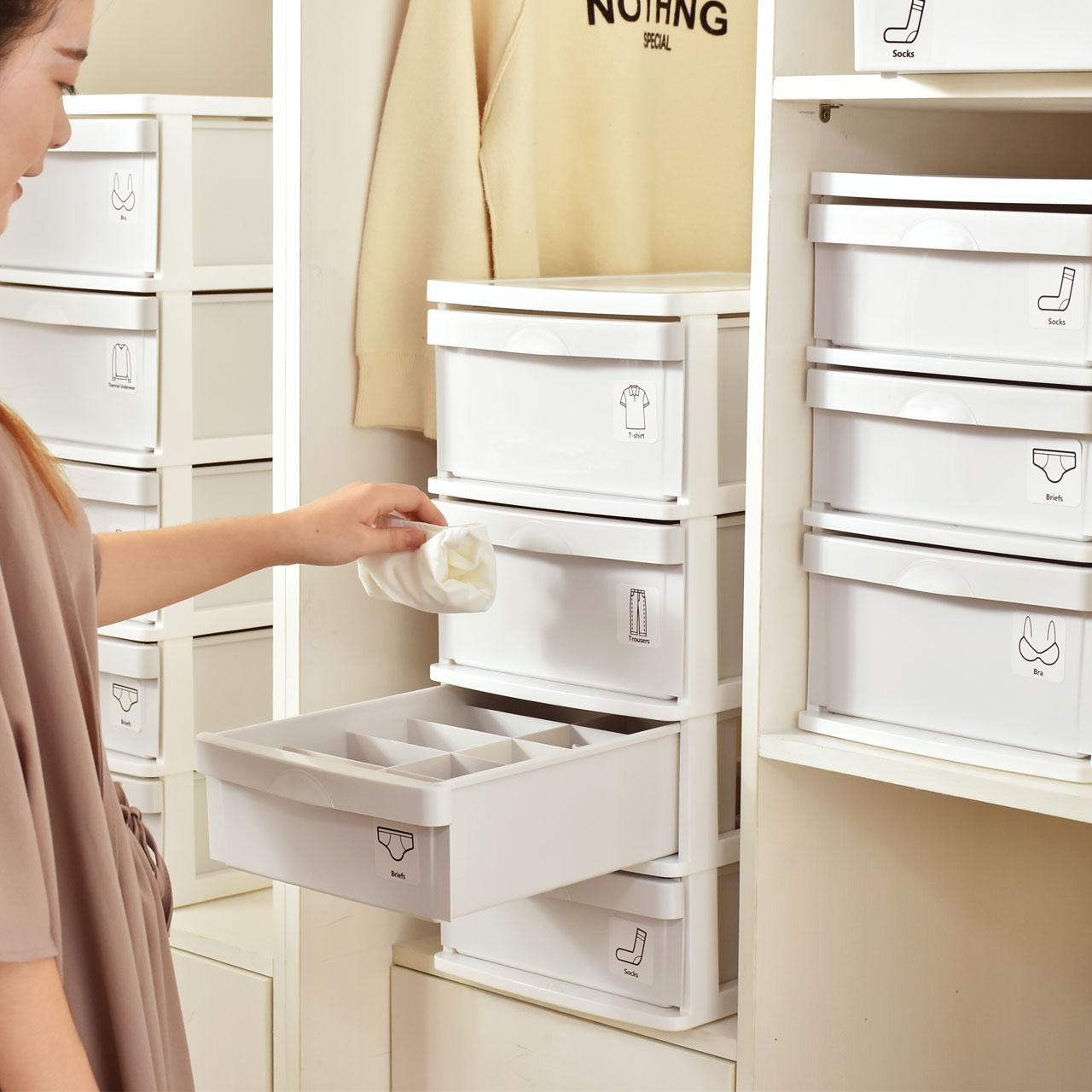 百露内衣收纳盒抽屉式衣柜收纳箱袜子文胸短裤整理盒塑料分格整理