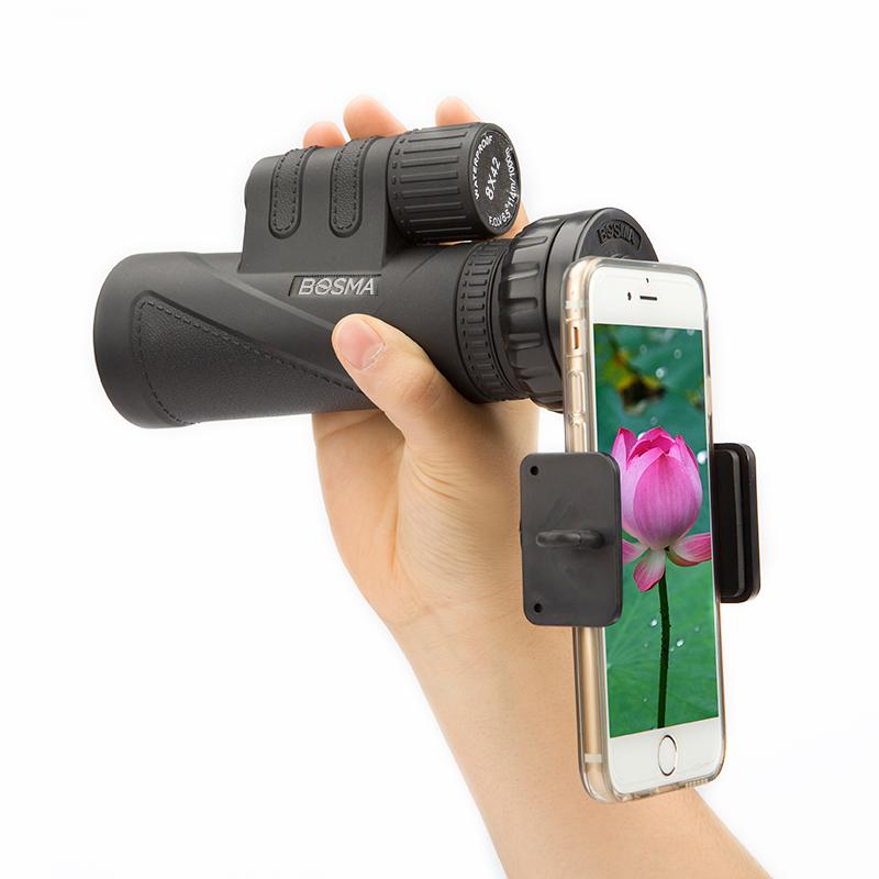 BOSMA博冠 绣虎8x42 高清 微光夜视 手机拍照望远镜单筒8倍镜