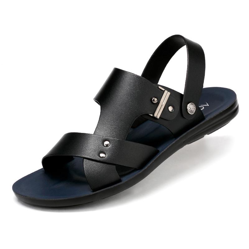 奥康凉鞋男夏季男士2019新款凉皮鞋沙滩鞋软底真皮凉拖鞋皮凉鞋