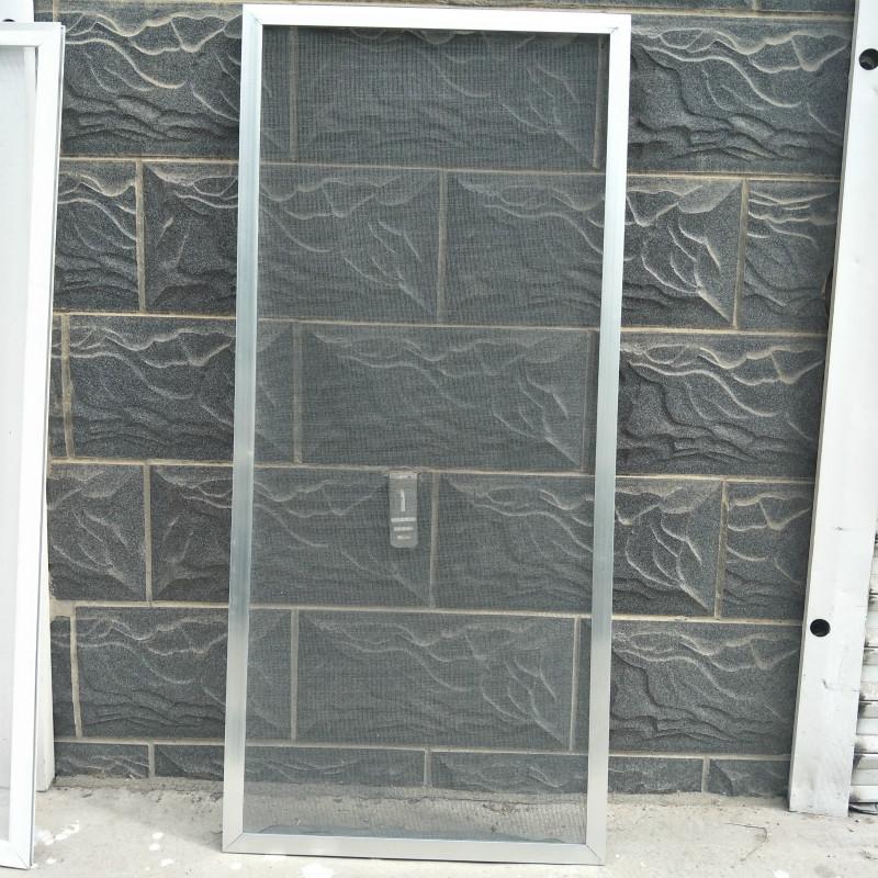 定做铝合金纱窗框 推拉式沙窗边框新老式滑动平移动防蚊纱窗网