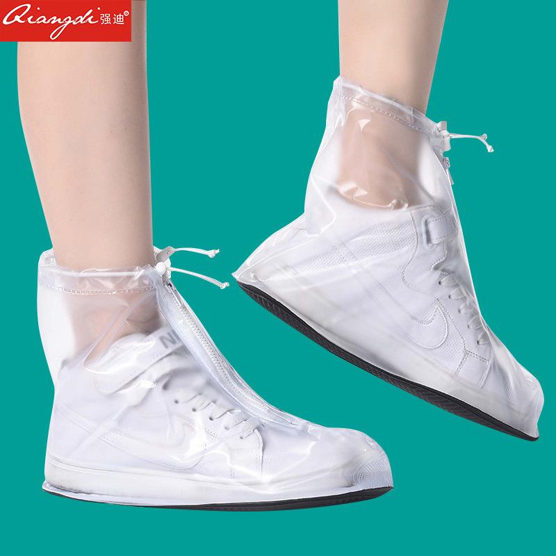 时尚透明短筒防雨鞋男女中高筒水鞋套儿童防滑加厚成人户外防水靴