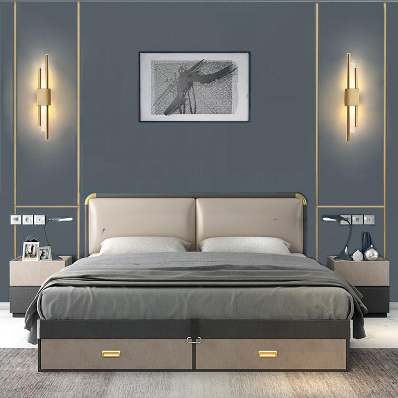 简约现代轻奢创意极简线条客厅卧室床头灯沙发背景墙北欧全铜壁灯