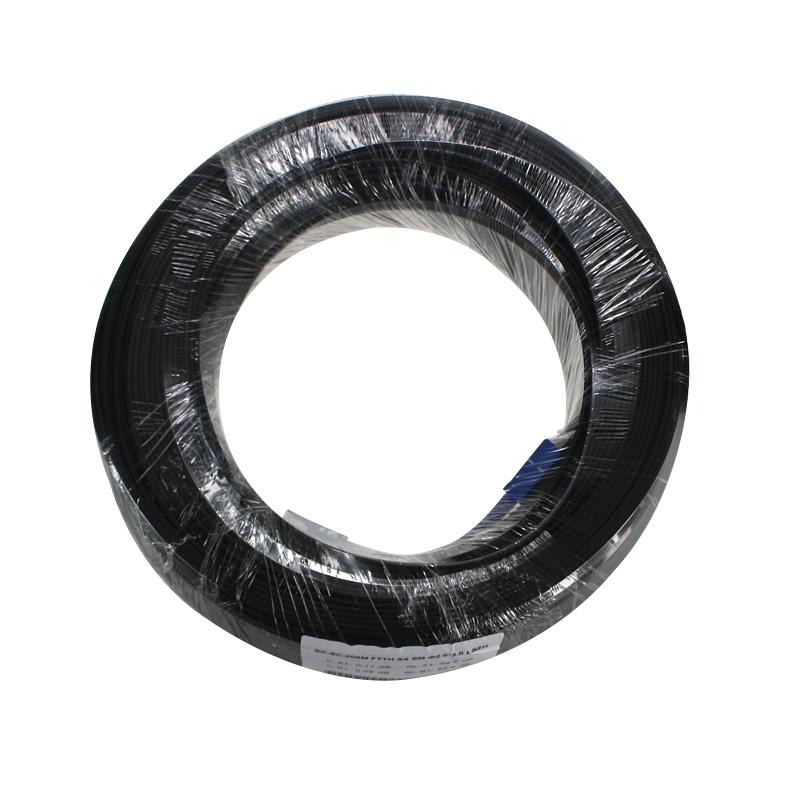 创立信 1芯室内皮线光缆一芯两钢丝1芯室外成品皮线光缆单芯SC-SC