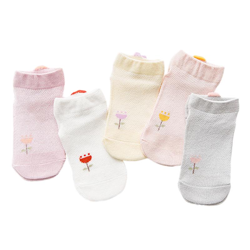 2020儿童纯棉船袜夏季薄款网眼春夏袜男童女童夏天童袜宝宝新生婴