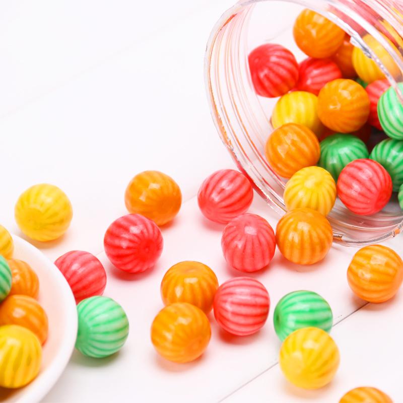 漂亮兔西瓜泡泡糖约185颗口香糖8090后怀旧零食儿时经典童年糖果