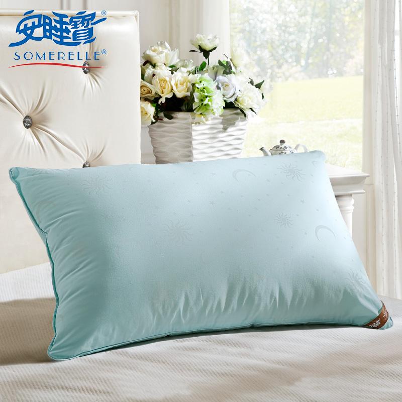 安睡寶星月枕芯 四孔纖維枕頭 全棉單人枕芯 夏抗菌防蟎
