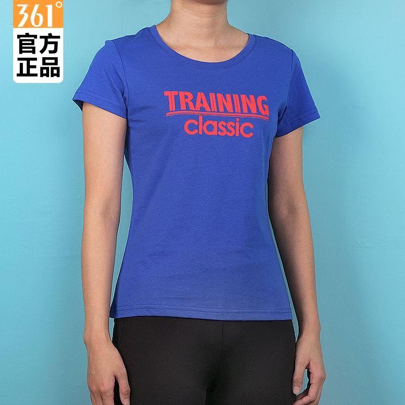 361短袖t恤女夏季正品361度女装体恤学生2018夏装圆领健身运动T桖