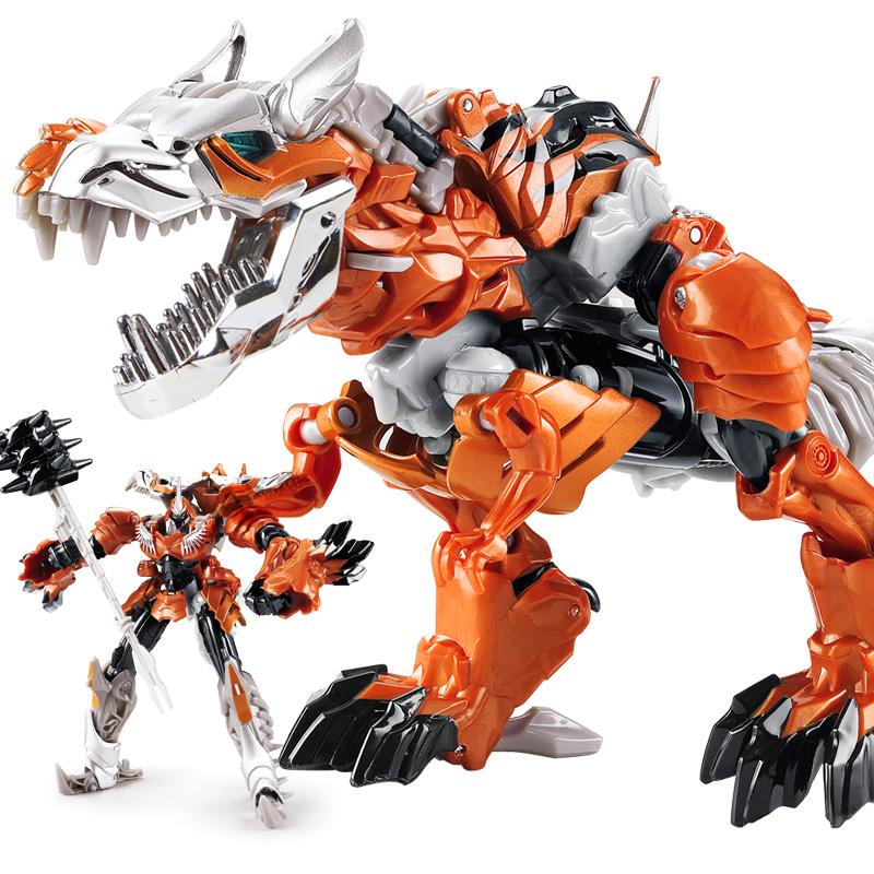 变形玩具金刚5 霸王龙合金暗黑版恐龙模型机器人儿童男孩6岁