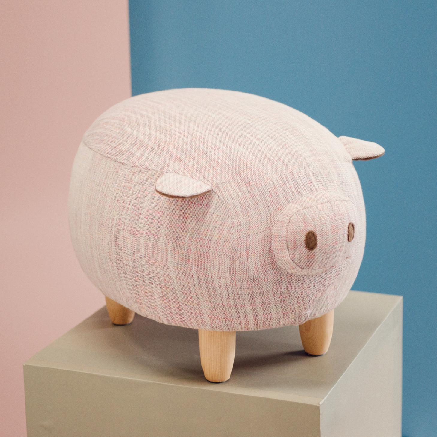 【有所的设计】嘟嘟坐墩原创小家具沙发凳宝宝儿童猪动物换鞋脚凳