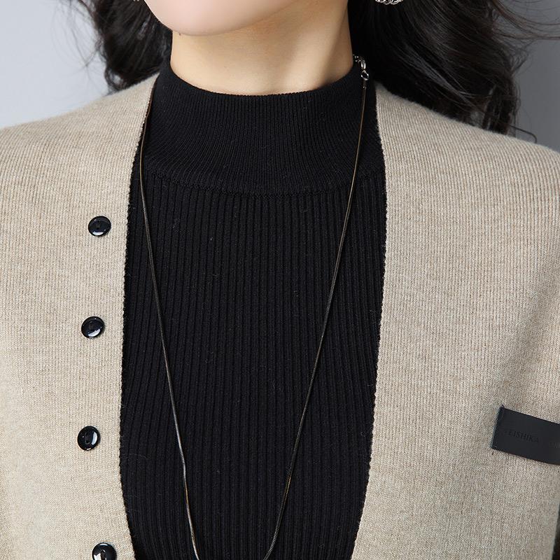 2017秋季新款休闲外套女短款V领夹克上衣长袖宽松外搭针织开衫潮