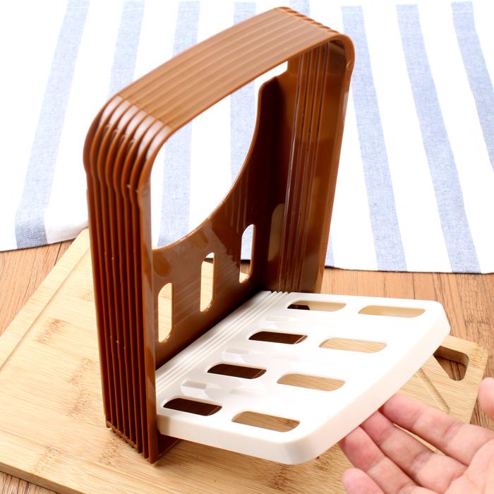 烘焙工具吐司面包切割器切片刀家用面包机切片架锯齿刀分片器套装