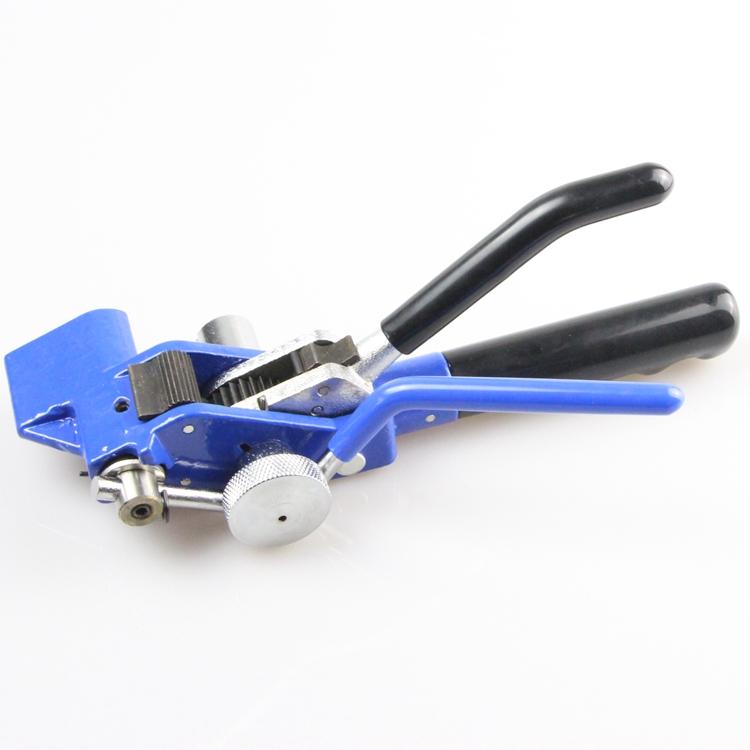 一拉得卡扣使用工具 不锈钢扎带固定锁紧裁剪盘带钳金属抱箍钳 304