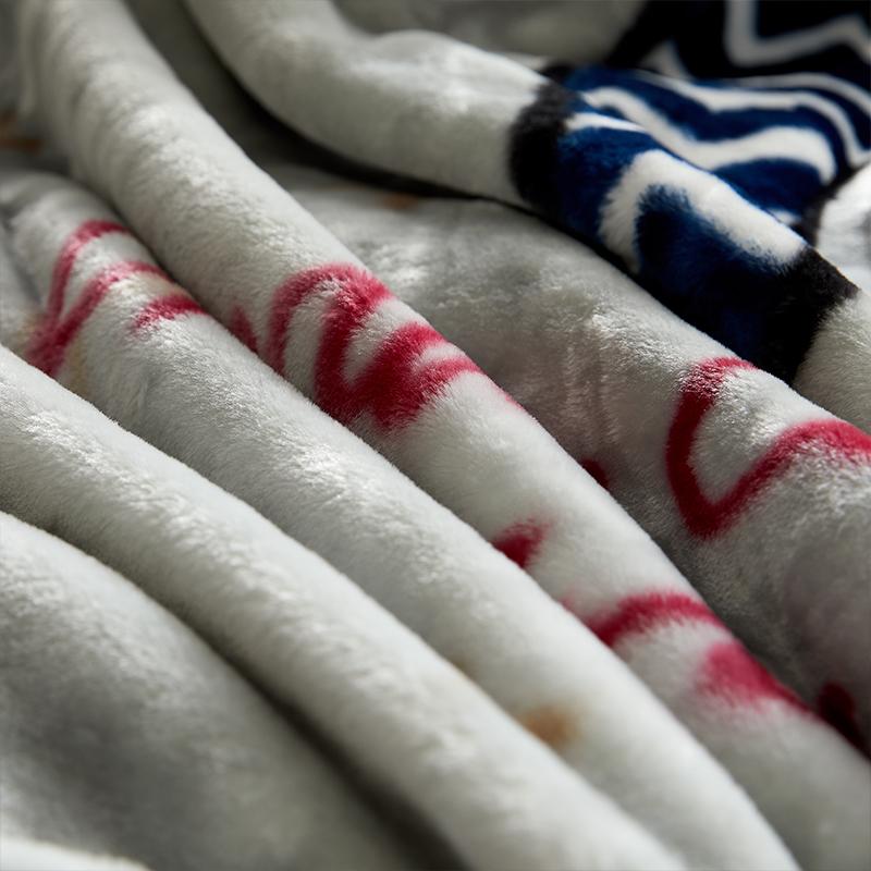 恒源祥10斤加厚拉舍尔毛毯双层学生午睡毯子单双人婚庆盖毯空调毯