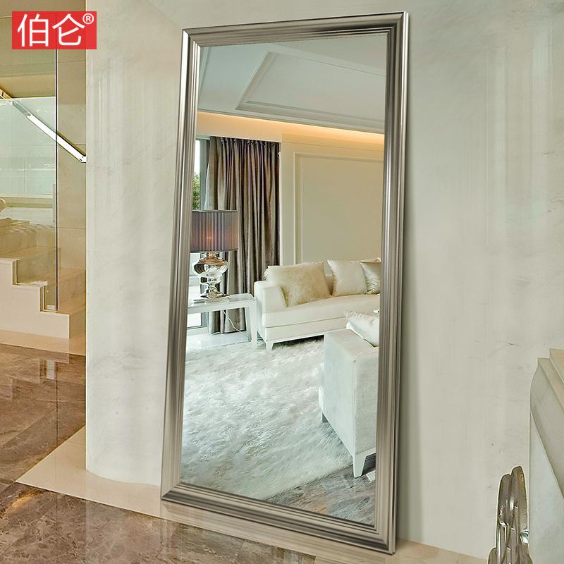 伯仑美式欧式穿衣镜子全身镜落地镜试衣镜复古服装店大镜子壁挂