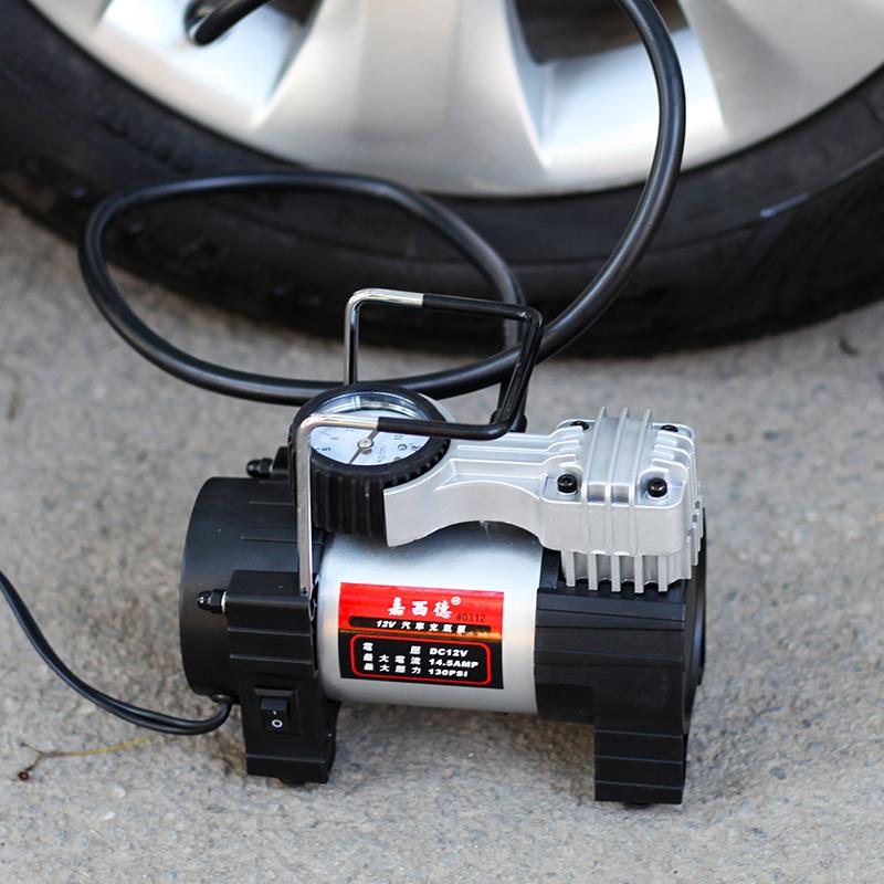 嘉西德12V汽车车载充气泵便携式轮胎汽车打气泵12v车用金属打气机