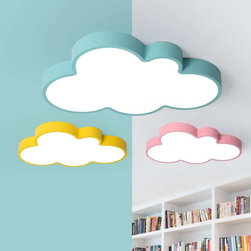 吸顶灯卧室灯儿童房灯男孩女孩房间温馨护眼灯 LED 现代简约云朵