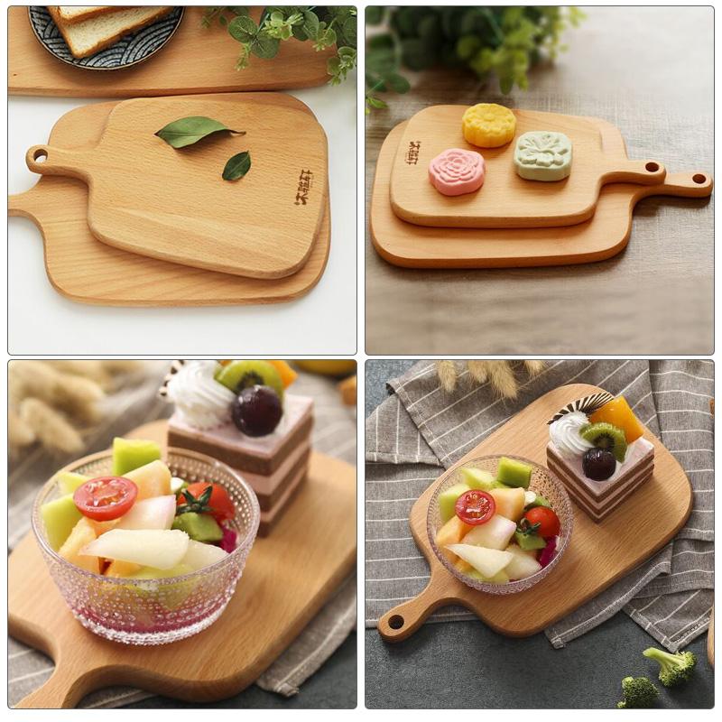宝宝辅食整木小菜板实木案板切菜板宿舍用水果板儿童砧板防霉家用