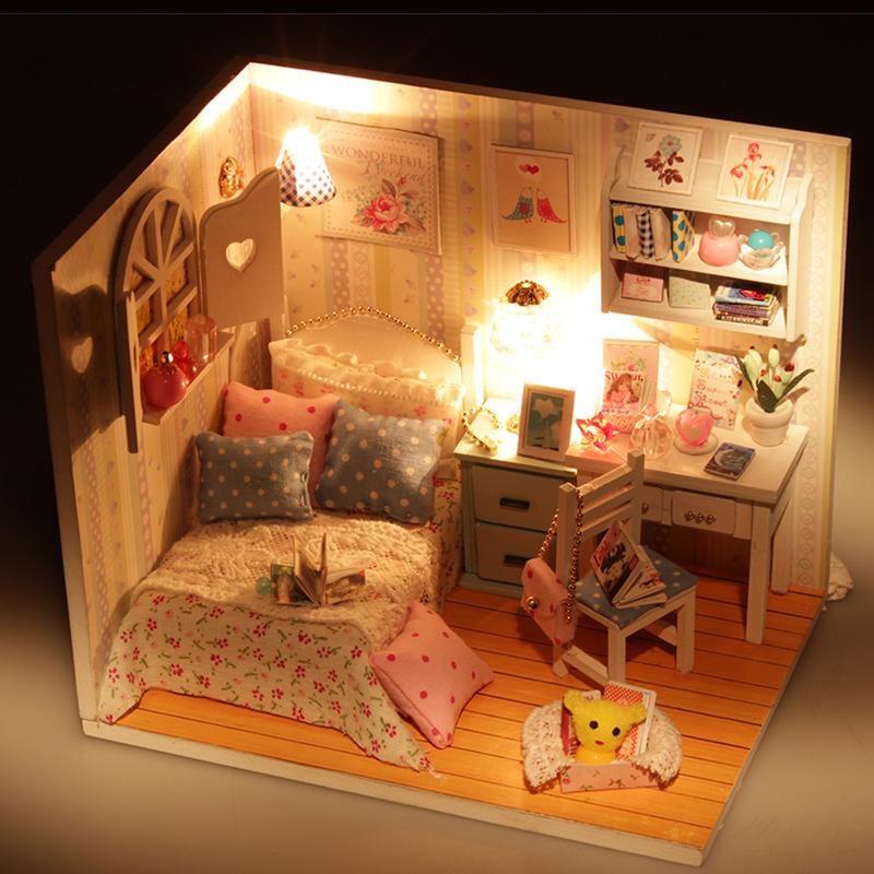 diy小屋手工制作拼装别墅房子模型别墅玩具创意圣诞节生日礼物女