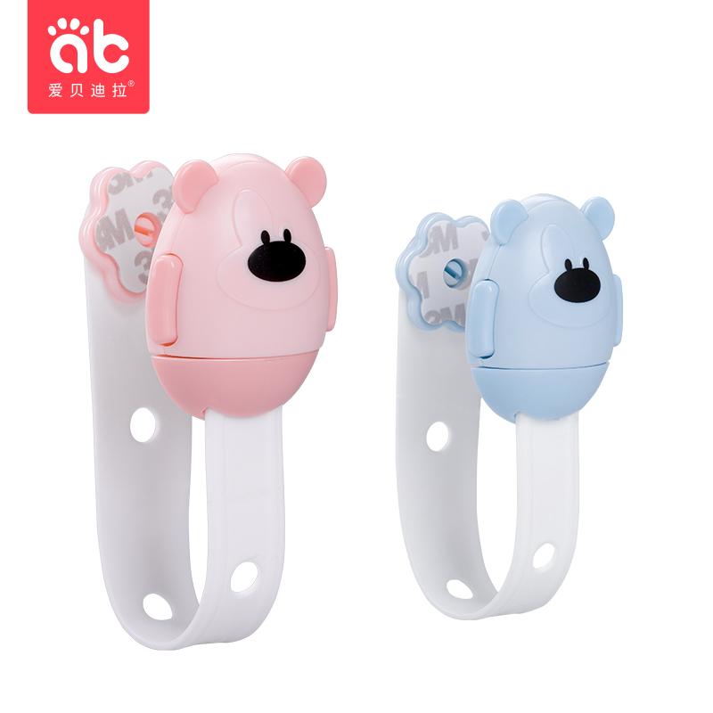 多功能安全锁宝宝防夹手抽屉锁卡通创意防开冰箱柜子儿童防护锁扣