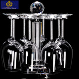 Crystal glass wine cup holder heightening the rotation speed inverted wine glass goblet cup holder Decanter Set