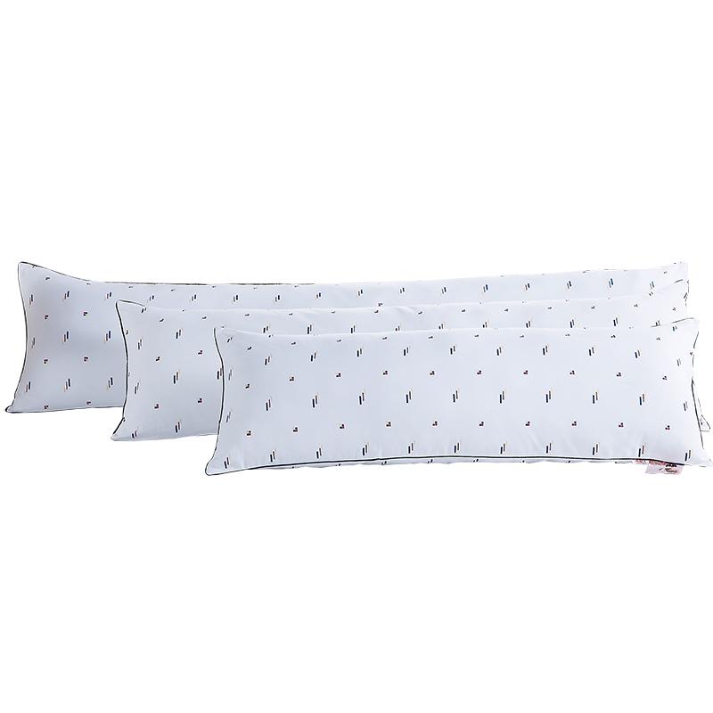 南极人双人加长枕头枕芯1.2m1.5米可水洗印花成人酒店情侣枕包邮